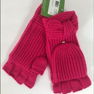 Kate Spade Bow  Begonia Bloom Mittens
